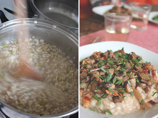 Classic risotto recipe and caramelized onions (plus mushrooms and ...