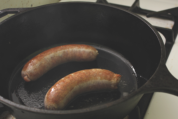 Browned_sausages