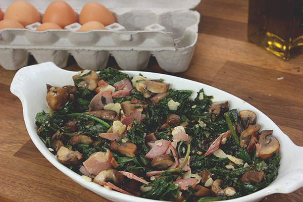 Kale-mushrooms-ham
